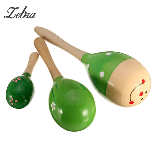 Percussion Instruments Wooden Maracas Baby Children Musical Instrument  Rattle Shaker Party Children Gift Toy 0660de09d033