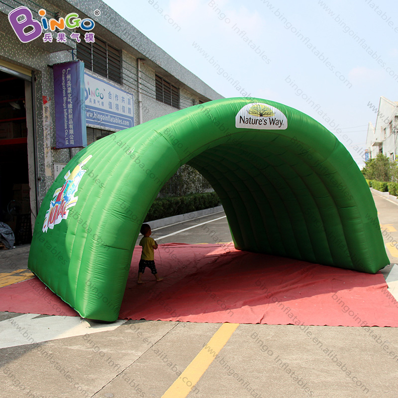 Hard-Working Personalized 3.6x3.5x2.5 Meters Inflatable Green Tunnel / Inflatable Entrance Tunnel / Inflatable Tunnel Tent Toy Tents Fine Workmanship