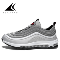 LEIXIANG 2018 men running shoes light sneakers breathable microfiber air Deodorant insole outdoor athletic walking jogging shoe