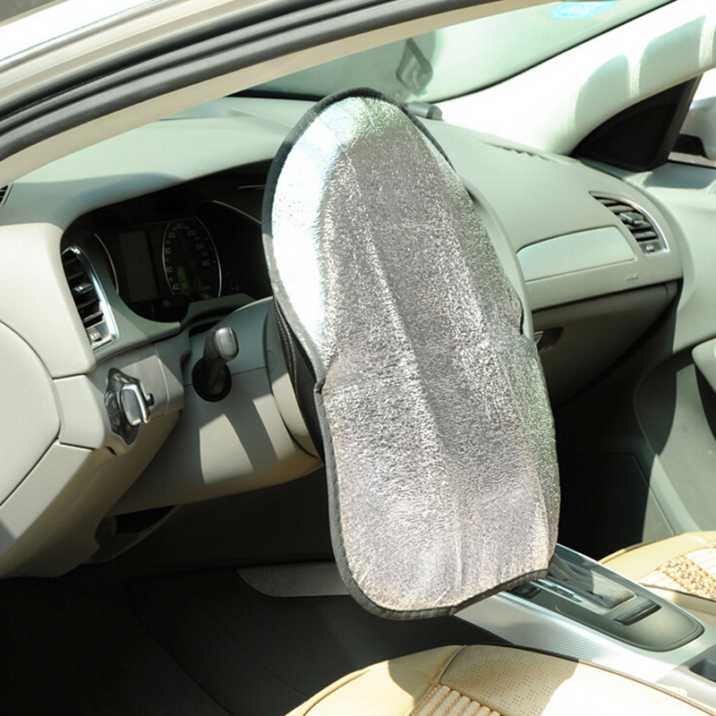 Double Thicken Aluminum Foil Anti Hot Automotive Car Steering Wheel Sun Shade Cover ...