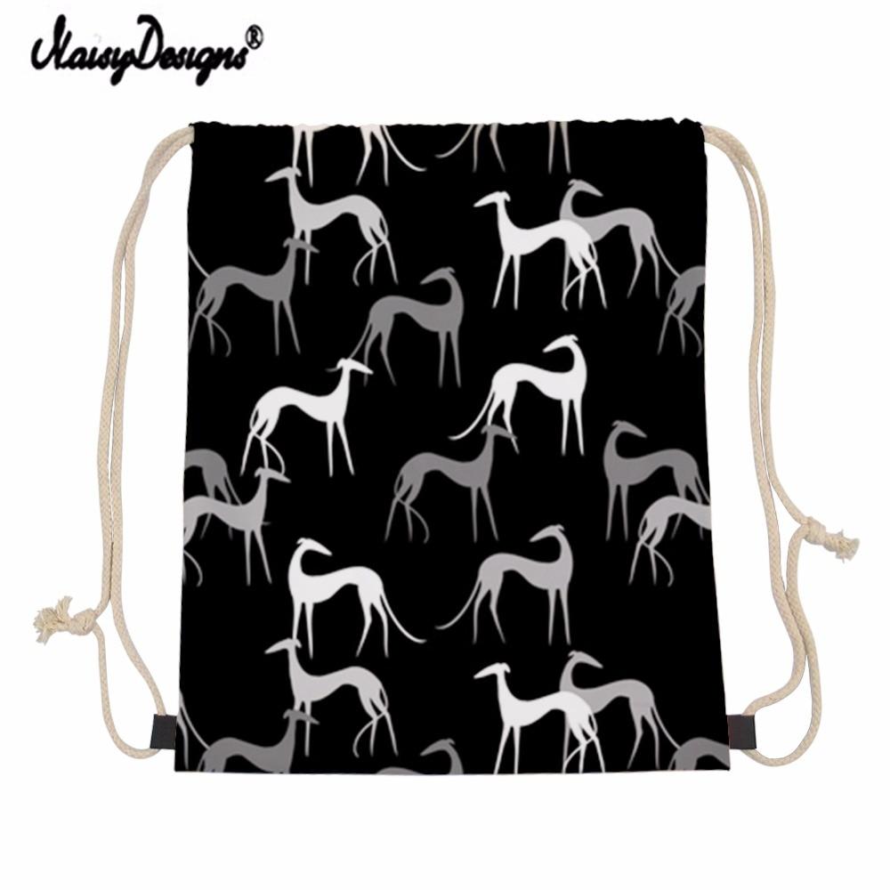 Женский рюкзак на шнурке с изображением собак Greyhound|Мешки кулиской| |