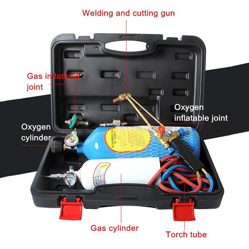 2L O2 Impianti di Saldatura Torcia di Refrigerazione di Saldatura di Riparazione Set di Strumenti di 2L Piccolo Ossigeno Saldatura Portatile