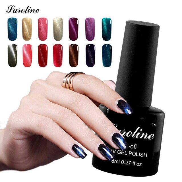 Saroline 8ml brand Color Magnetic UV 3D Cat Eye Gel Nail Polish soak ...