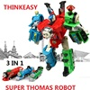 3 IN 1 Super Transformation Thomas And Friends Figure Toys With Gift Package Children Figures For