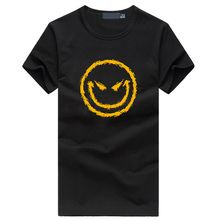 Funny Evil Smiley Face Men's t-shirts 2016 summer hot hip hop fitness tshirt homme casual fashion brand clothing streetwear tops