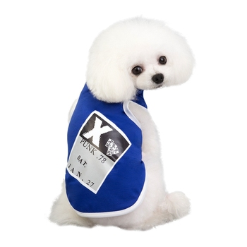 Funny Cotton Clothes For Dogs Pet Dog Summer Breathable T-shirt Vest Puppy Pullover PUNK Shirt Print Clothes