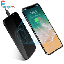 Фотография CinkeyPro QI Wireless Charger Pad 5V/1A Charging Aluminum & Acrylic Stand for Samsung Galaxy S6 S7 S8 Note 5 edge