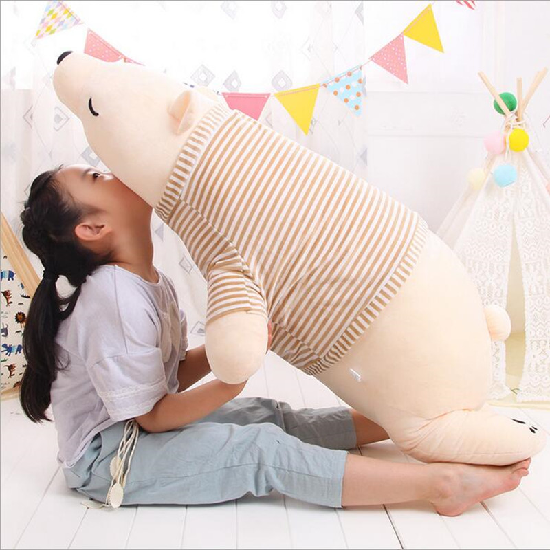 New Big Size I110cm Stuffed Polar Bear Soft Stuffed Toy Stuffed Doll Polar Bear Doll Cute Plush Toy Gift for Lovers Kids Gifts 35cm lovely white brown polar bear plush toy lovely stuffed polar bear doll kids gift