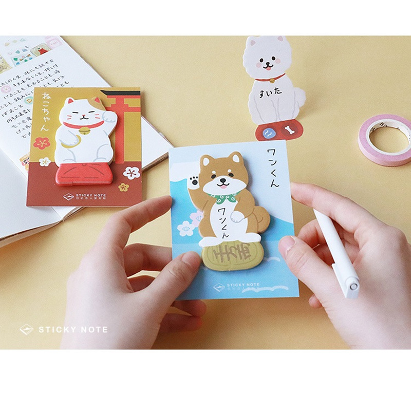 24 Pcs/Lot Cute Dog Cat Sticky Note Post Memo Sticker Planner Diary Kawaii Stationery Office Accessories School Supplies F119