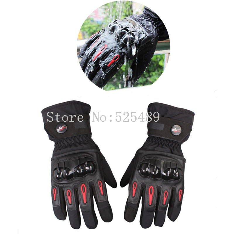 Winter Waterproof Warm Touch Screen Leather Gloves Outdoor Motorcycle Motocross Off-Road Racing Protective Gloves guantes moto