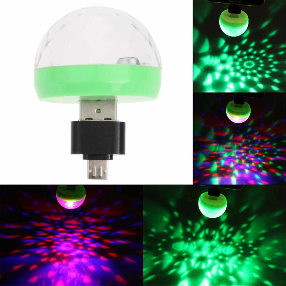 Mini USB LED Party Light Music Ball Lights Color Change with Music DJ Light Stage Christmas Party Stroboscope stage lamp