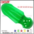 CRF50 CRF 50 Front Fender PLASTIC PROTECTOR 6 COLOR