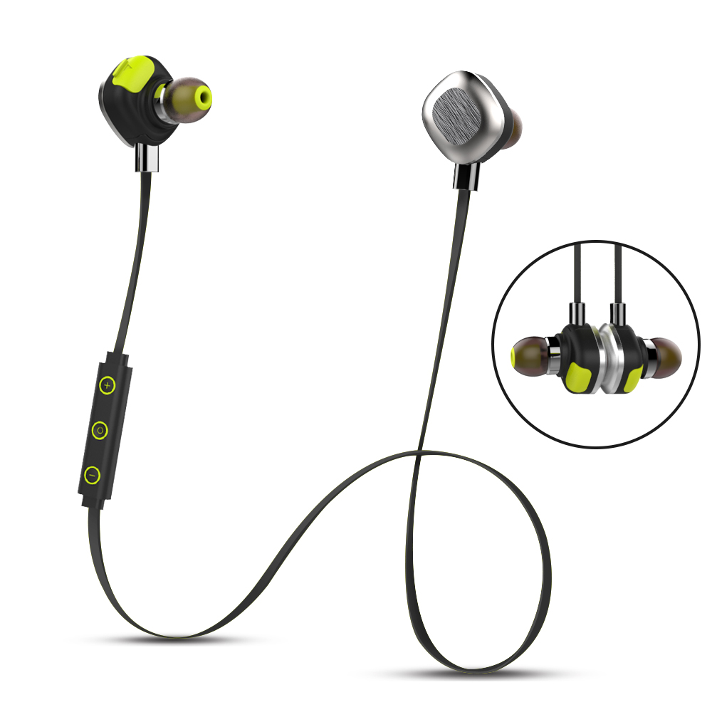Waterproof IPX7 Headset Sweat-proof Bluetooth Earphones Stereo Microphone HiFi Magnetic NFC Long Working Time e 3lue ebt922 nfc bluetooth headset black
