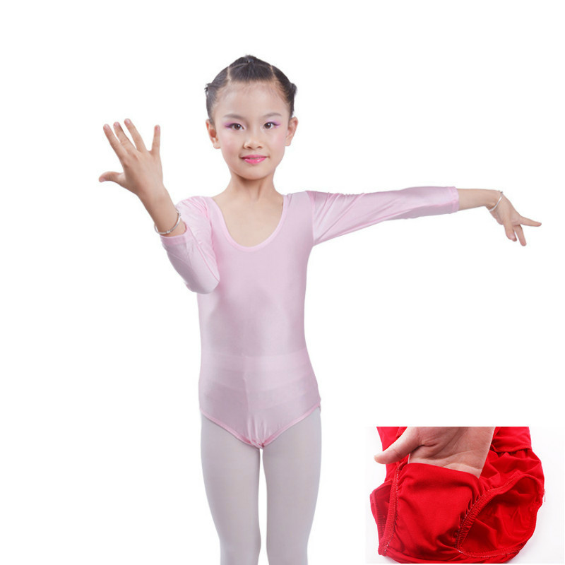 0aefc79ee long sleeves gymnastics leotard for girls ballet kids competition lyrical  ...