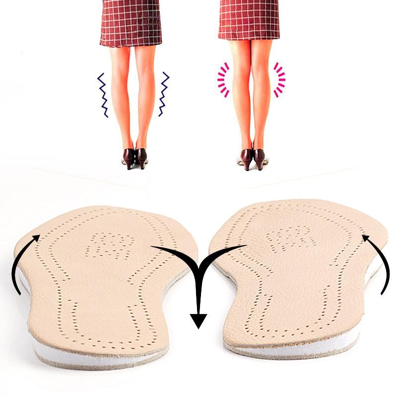 EXPfoot couro Genuíno O perna ortopedia Pronação silicone gel heel cushion cuidados com os pés palmilha shoes pad pés sole homem e mulheres