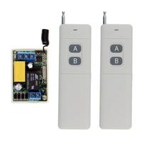 3000m Long Distance AC 220V 1 CH 1CH Relay RF Switch Remote Control 2CH Transmitter Mini