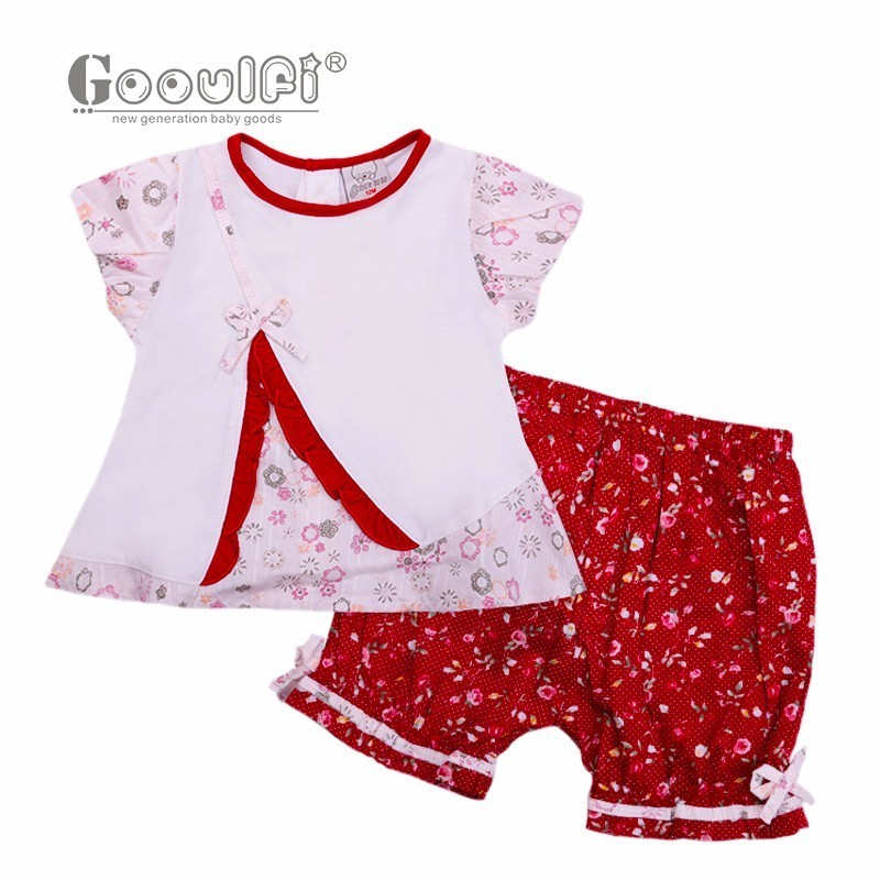 Gooulfi Newborn Baby Girl Clothes Birthday Infant Clothing Baby Girl Set Floral Cotton Newborn Baby Girl Clothes 0-3 Months newborn baby girl clothes brand baby