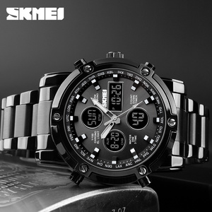 Image 5 - Free shipping 50M waterproof mens double movement watch mens sports watch mens outdoor watch large multi function watch