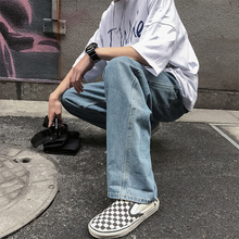 Men Casual Loose Long Jeans Retro Baggy Vintage Washed Denim Pants Male Fashion Hiphop Streetwear Hot Sale