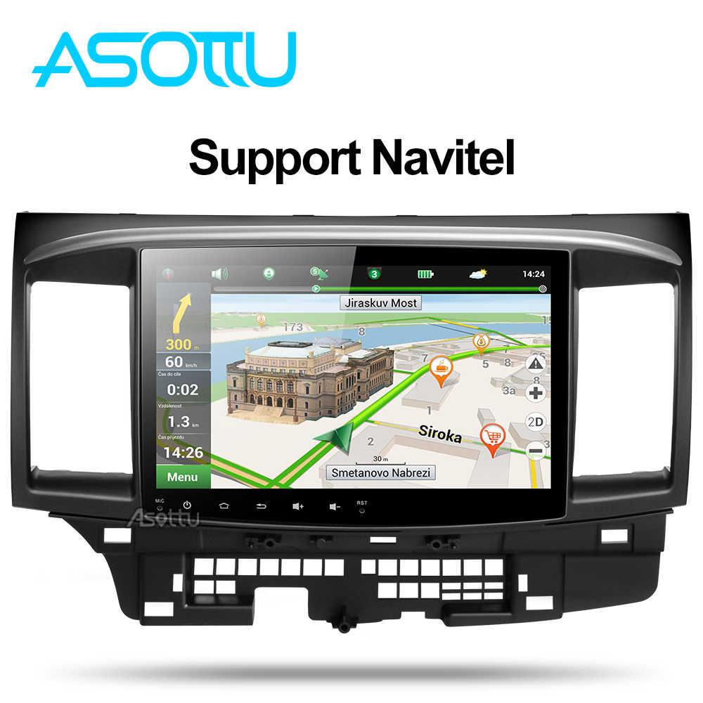 Asottu CYS1060 2G Octa Core Android 9,0 para Mitsubishi Lancer multimedia estéreo Unidad de Radio GPS coche dvd gps player gps ESTÉREO