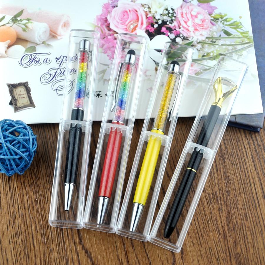 caneta transparente caso caixa de caneta para 02