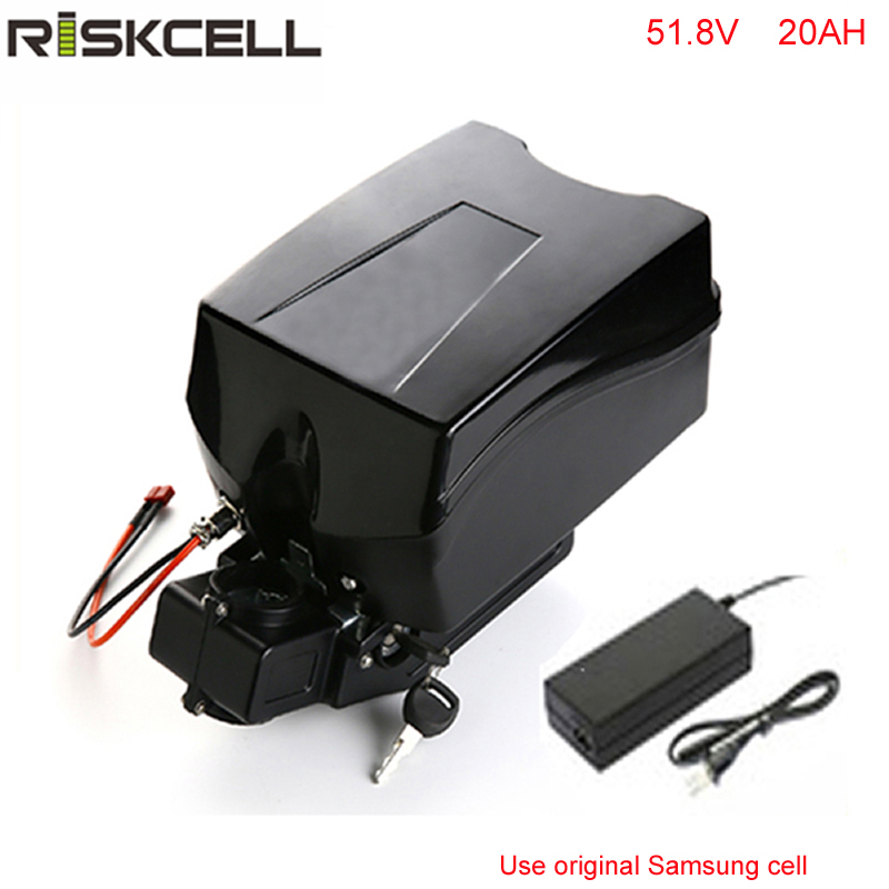 Free customes taxes 51.8v 1500w electric bike battery 52v 20ah ebike lithium battery with  charger +Frog case For Samsung Cell atlas bike down tube type oem frame case battery 24v 13 2ah li ion with bms and 2a charger ebike electric bicycle battery