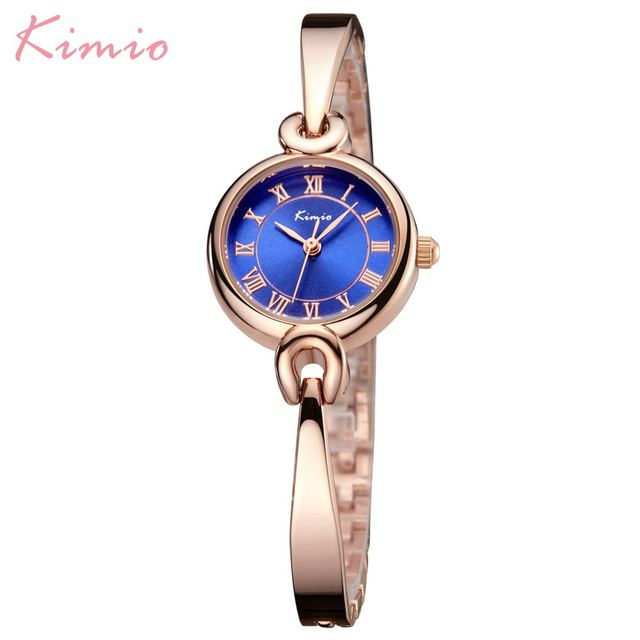 Kimio Luxury Brand Fashion Women Watches Dress Lady Wristwatch Alloy Bracelet Qu