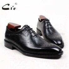 CIE на заказ клей Craft на заказ ручной работы телячья кожа верхних внутренняя подошва Для мужчин платье Оксфорд черная обувь без. ox433