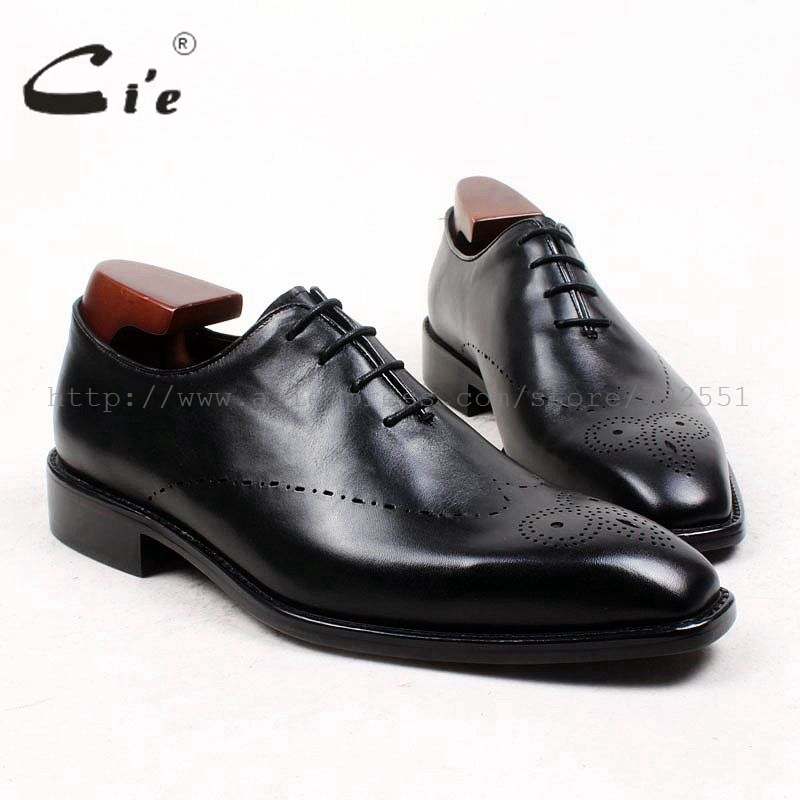 cie Free Shipping Custom Adhesive Craft Bespoke Handmade Calf Leather Upper Inner Outsole Men's Dress Oxford Black Shoe No.OX433