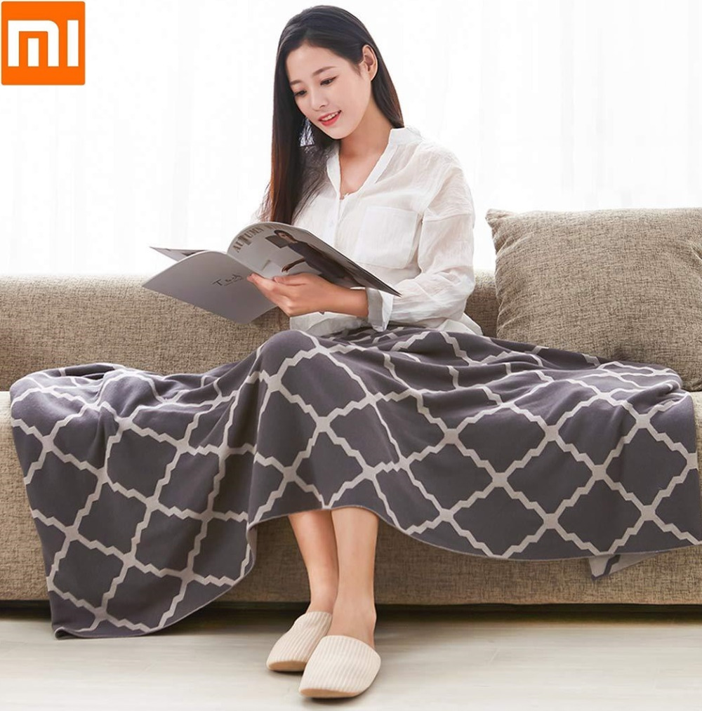 Xiaomi Cotton knit blanket Fine and soft quilt Warm and comfortable Air conditioning Knitting blanket For