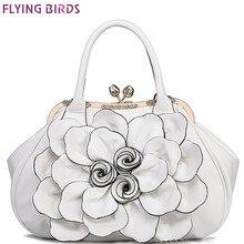 Летающие птицы дизайнерские женские сумки 3D цветок высокое качество кожаная сумка женская большая сумка на плечо сумки-мессенджеры LM3515fb