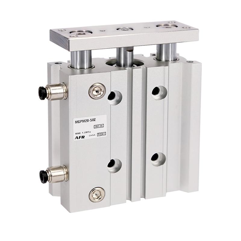 air Cylinder MGPM40-125Z MGPM40-150Z Thin cylinder with rod Three axis three bar Pneumatic components MGPL40-125Z MGPL40-150Z