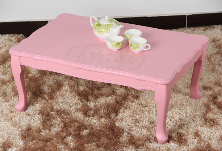 Princess Furniture Wood Folding Coffee Table Rectangle 80cm Living Room Low  Floor Table Leg Foldable Wooden