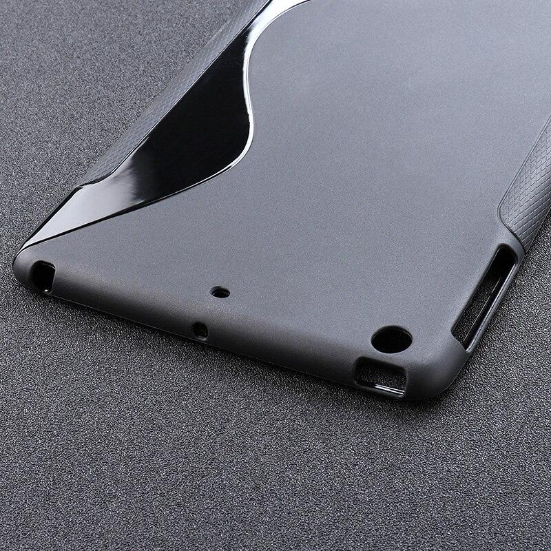 ipad mini black SLINE Black Cover Case For Apple iPad Mini 1 2 3 Case Silicon Soft TPU Tablet iPad Mini1 Mini2 Mini3 Bumper Absorption 7.9 inch (4)