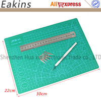 A3 A4 Cutting Mat 30cmX22cm PVC Double Sided Cutting Board Leave No Trace Cutting Underlay Graver