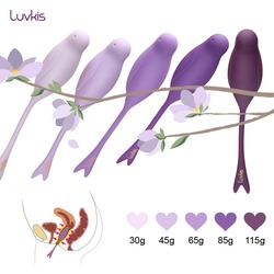 Luvkis 5 шт. набор Ben Wa Мячи затягиваются тренировки любовь яйцо Медицинские силиконовые анус или Вагина детские игрушки для женщин фиолетовый