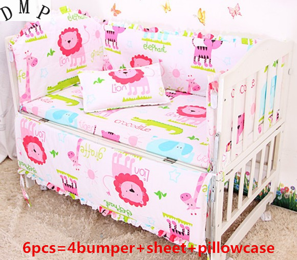 Promotion! 6PCS baby bedding set bebe jogo de cama cot crib bedding set ,include:(bumper+sheet+pillow cover)Promotion! 6PCS baby bedding set bebe jogo de cama cot crib bedding set ,include:(bumper+sheet+pillow cover)