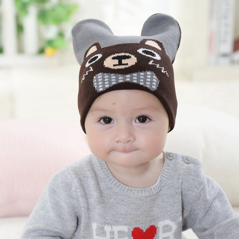 Bnaturalwell Baby slouchy beanie Toddler hipster knit hat boys cap Little  girls pilot hat Soft cute animal design I love Mama-in Skullies   Beanies  from ... b3cfe35b779