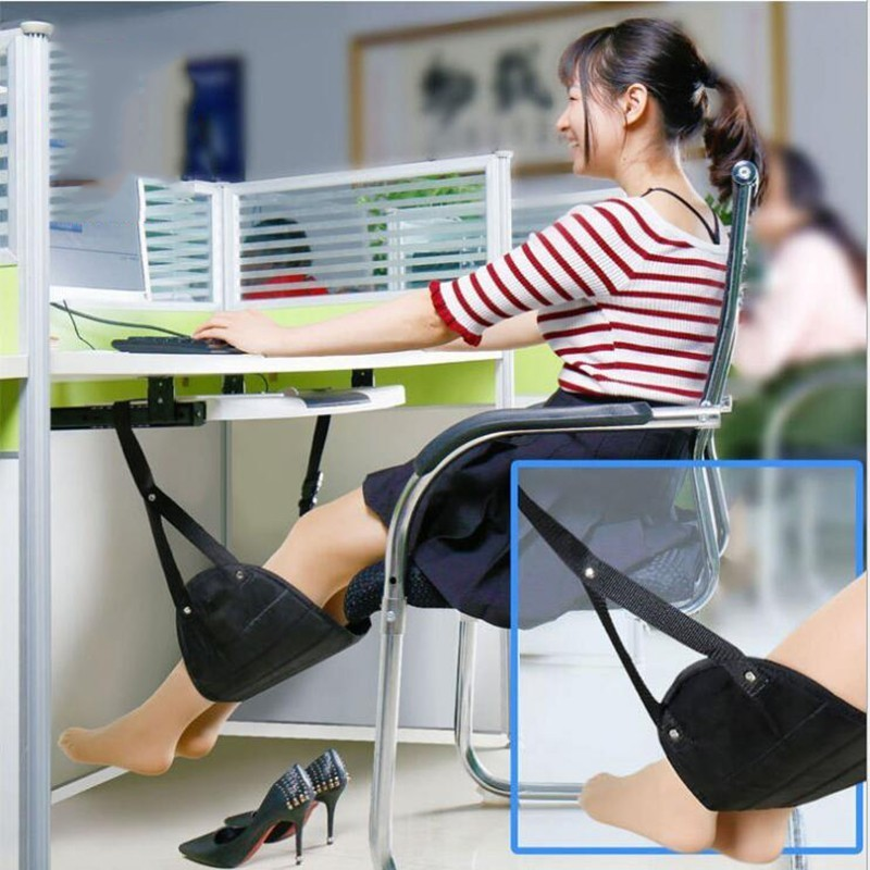 Portable Travel Aviation Seat Foot Pad New Foot Rest Train Practical Adjustable Stand Foot Rest Feet Hammock Travel Accessories