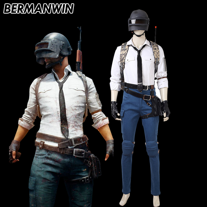 BERMANWIN New Game Character PLAYERUNKNOWN'S BATTLEGROUNDS Costume PUBG Cosplay Costume Halloween Costume For Men Custom Made