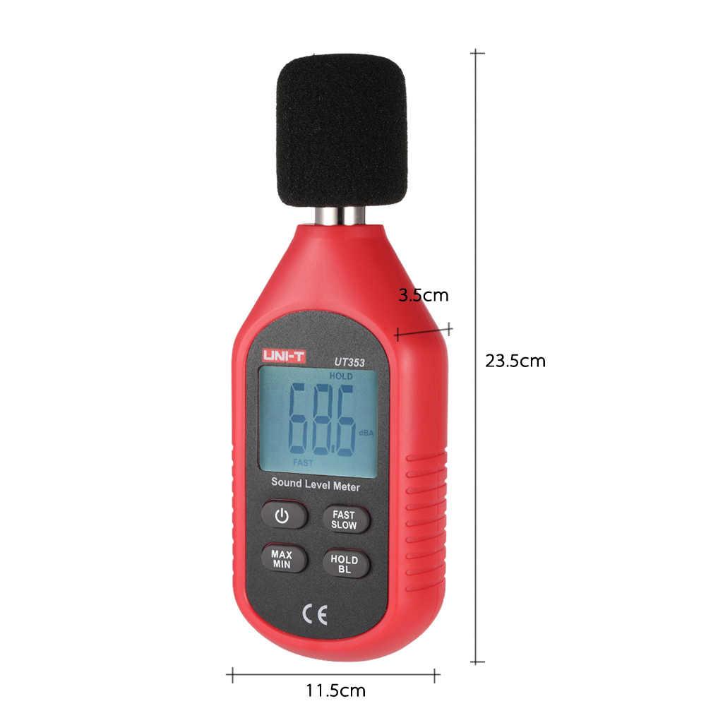 UT353 30-130dB Mini Lcd-scherm Digitale Geluidsmeter Noise Meetinstrument Decibel Monitoring Tester