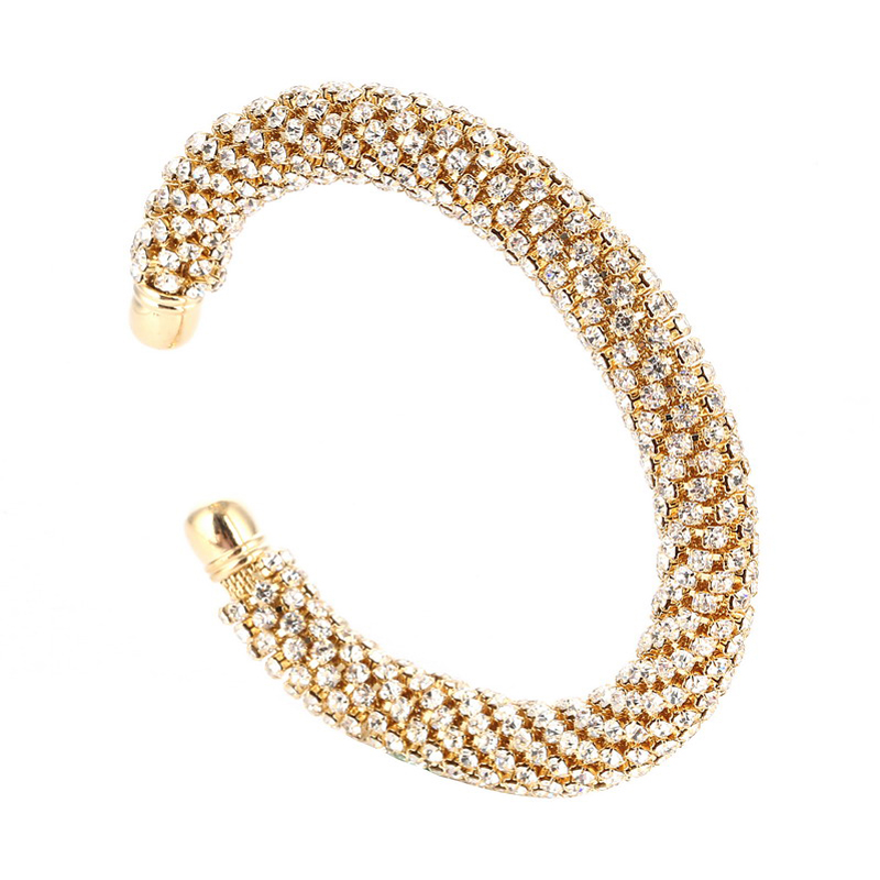 LOVBEAFAS Fashion Luxury Cuff Bracelets & Bangles For Women Crystal Rhinestone Vintage Bracelets Fine Jewelry Accessories 5
