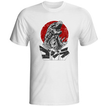 Kaiju T-shirt Funny Japanese Monster T Shirt Fashion Cool Novelty Kaiju Printed Tshirt Casual Funny White O-neck Tee Men