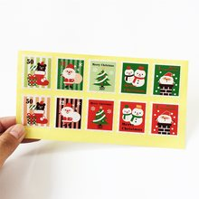 100 Pcs/lot Stamp Shape Seal Sticker Lable Celebrate Christmas Gift Decor Stickers Bakery Cookie Packaging Bag Paper Seal Labels(China)