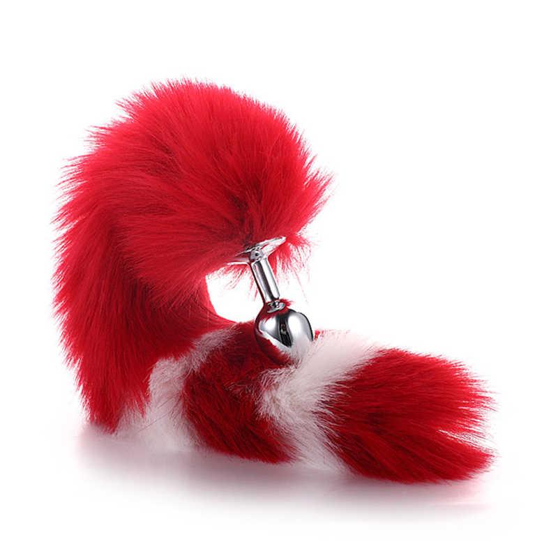 Anal ยาว Flirting ของเล่น Anal Fox Tail คอสเพลย์ของเล่นสัตว์เล่นบทบาทผู้ใหญ่เซ็กซี่เครื่องแต่งกายอุปกรณ์เสริม