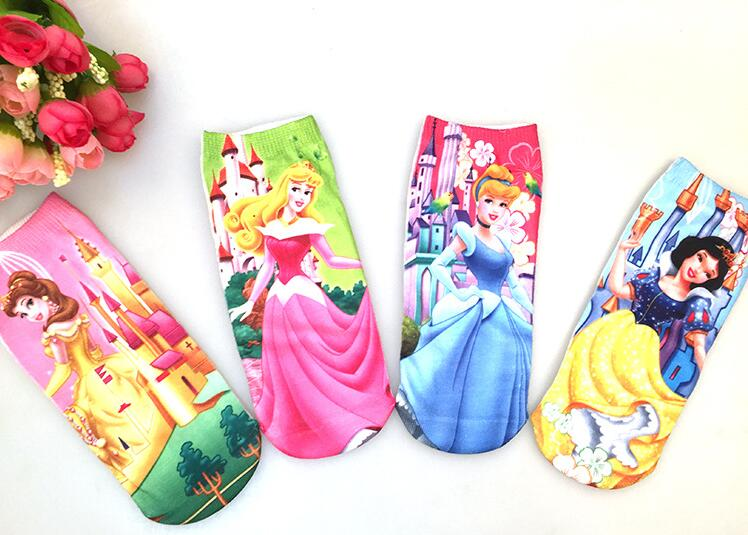 New Kids Socks Boys Girls Cute Kawaii Cartoon Sock Elsa Alice Princess Avengers Captain America Mesh 3D Print Children Sock Toy