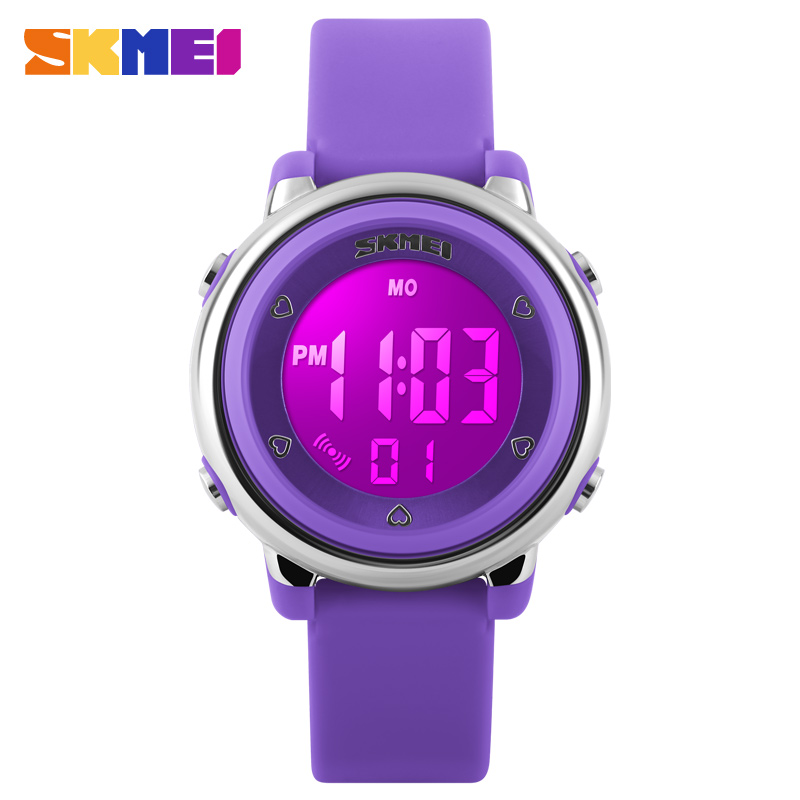 2018 Skmei Women Sport Watch Men Kids LED Digital Watch Jelly Silicone Divering Sports Watches Children Waterproof Wristwatch