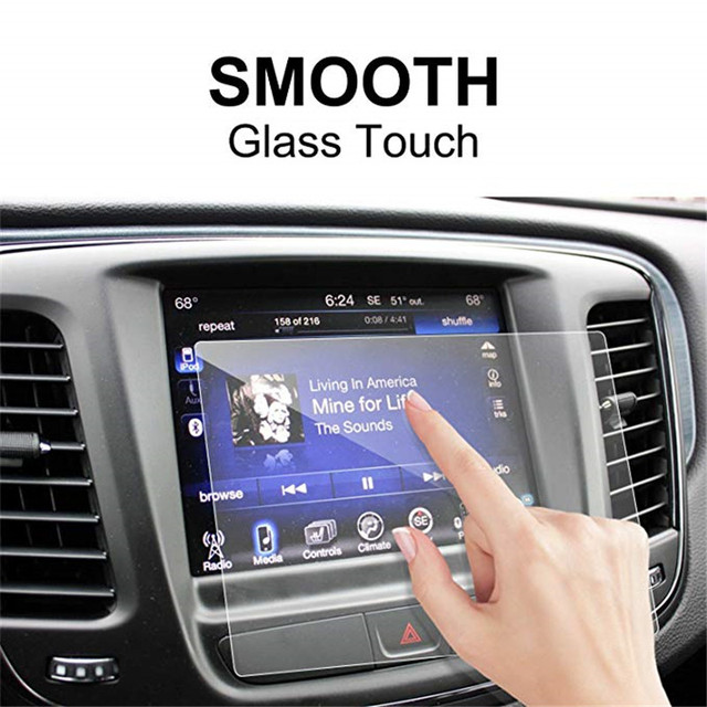 For Chrysler 200/300 / Pacifica 8.4 Inch Car Navigation Screen Protector Tempered Glass Touch Screen Protector 3