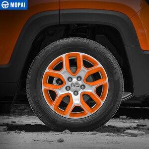 Image 3 - MOPAI Cubierta del Centro de volante para coche, cubierta de decoración, marco de pegatinas ABS para Jeep Renegade 2013 2018, accesorios exteriores, estilo de coche