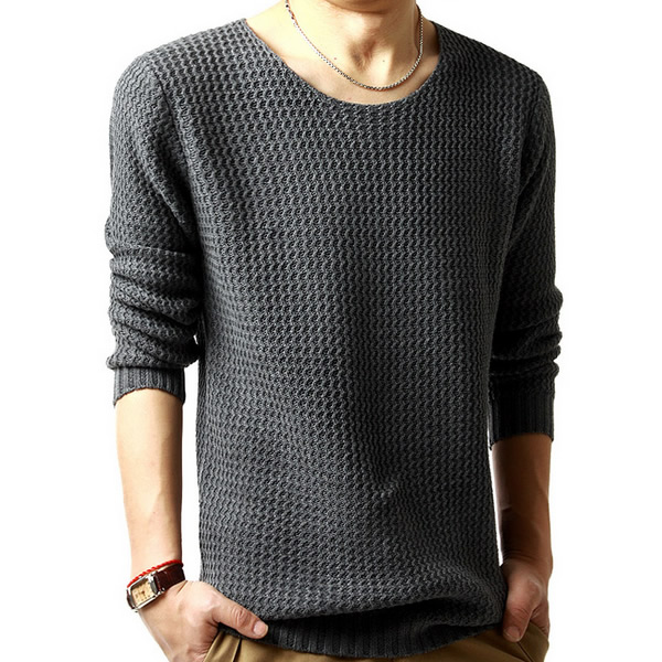 8414aff15c4677 fashion 2018 Woolen Cotton Knitwear Men thermal Sweater pulls slim homme  warm knitted patchwork long sleeve XXL pullover male-in Pullovers from Men s  ...